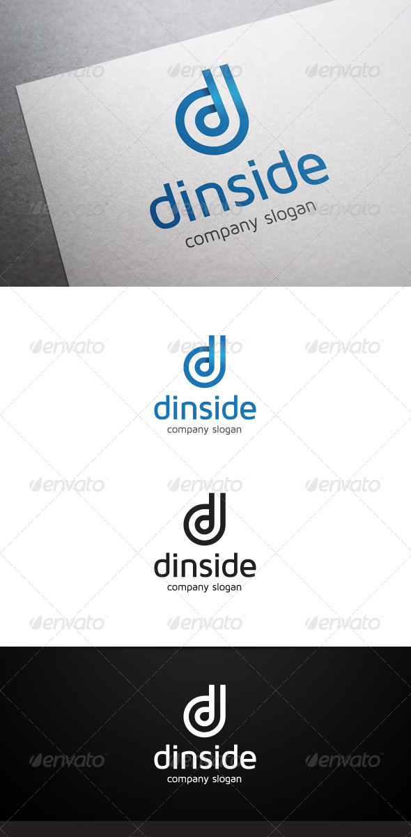 GraphicRiver Dinside D Letter Logo V2 6380396