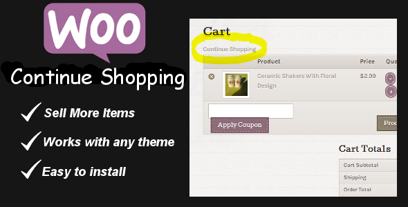 CodeCanyon WooCommerce Continue Shopping Link 6380456