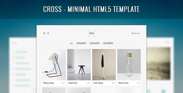 ThemeForest Cross Minimal HTML5 Template 6380524