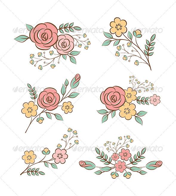GraphicRiver Floral Design Elements 6380806