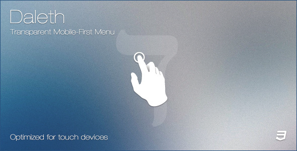 CodeCanyon Daleth Transparent Mobile-First Menu 6381165
