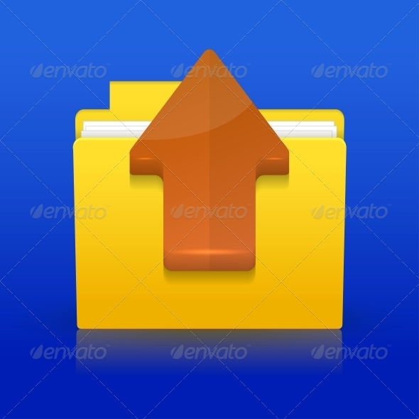 GraphicRiver Upload Icon on Blue Background 6381626
