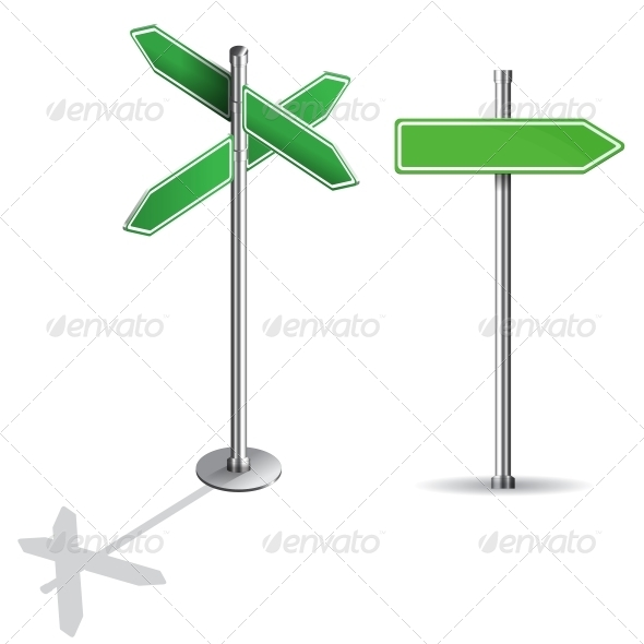 GraphicRiver Blank Signs Pointing in Opposite Directions 6381803