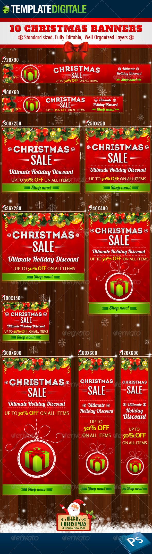 GraphicRiver 10 Christmas Banners 6381859