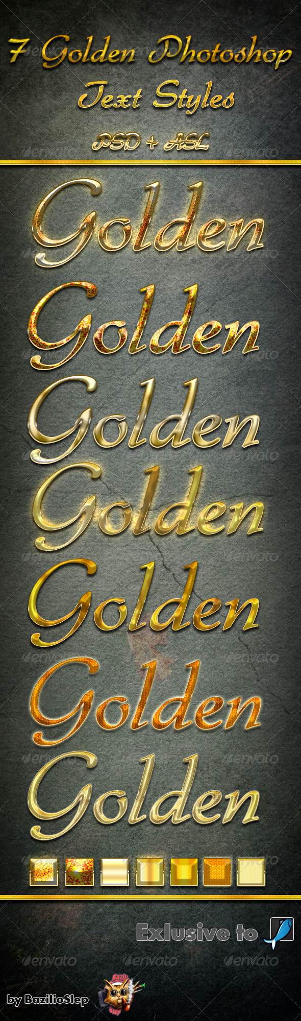 GraphicRiver 7 Golden Photoshop Text Styles 6382115