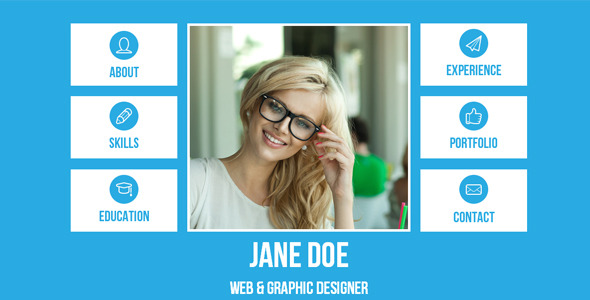 Resume - Single Page Adobe Muse Template