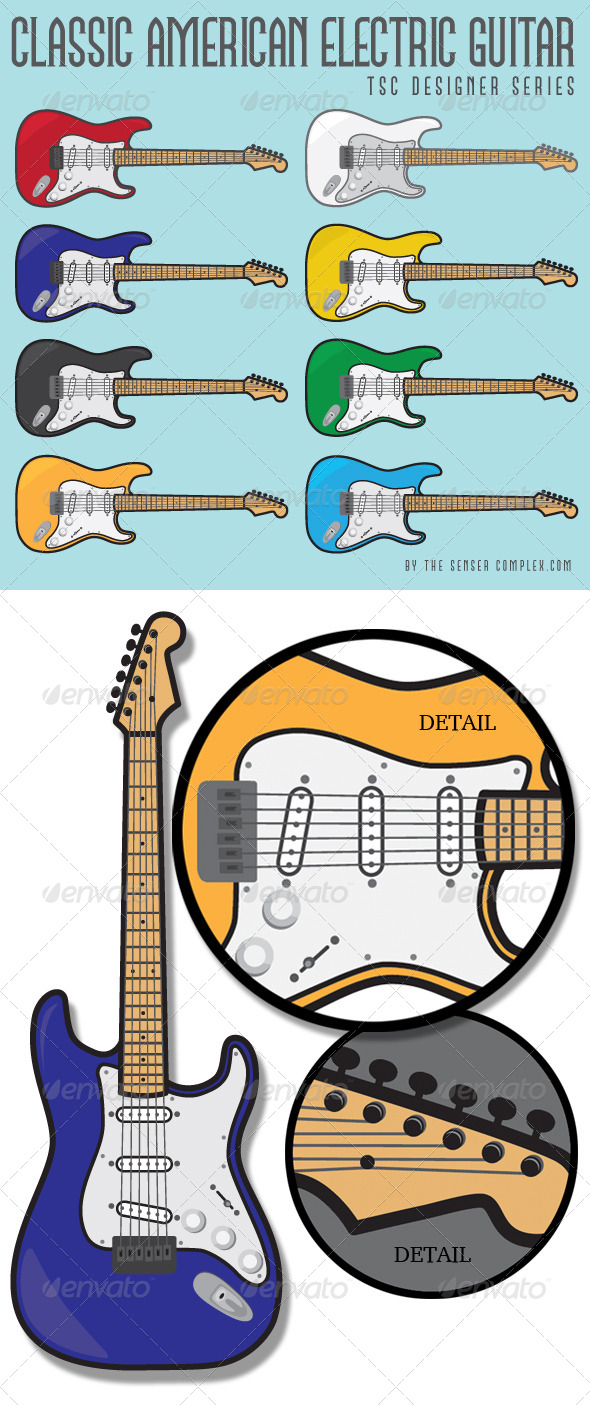 GraphicRiver Classic American Guitar Collection 6382186