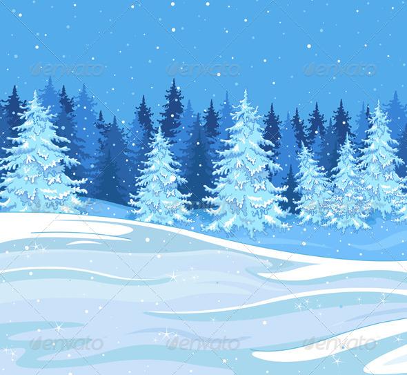 GraphicRiver Winter Landscape 6382293