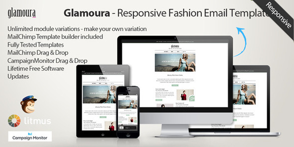 ThemeForest Glamoura Responsive Fashion Email Template 6382358