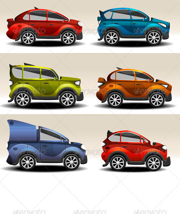 GraphicRiver Cartoon Cars 6382654