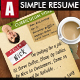 Simple Coffee Shop Resume - GraphicRiver Item for Sale
