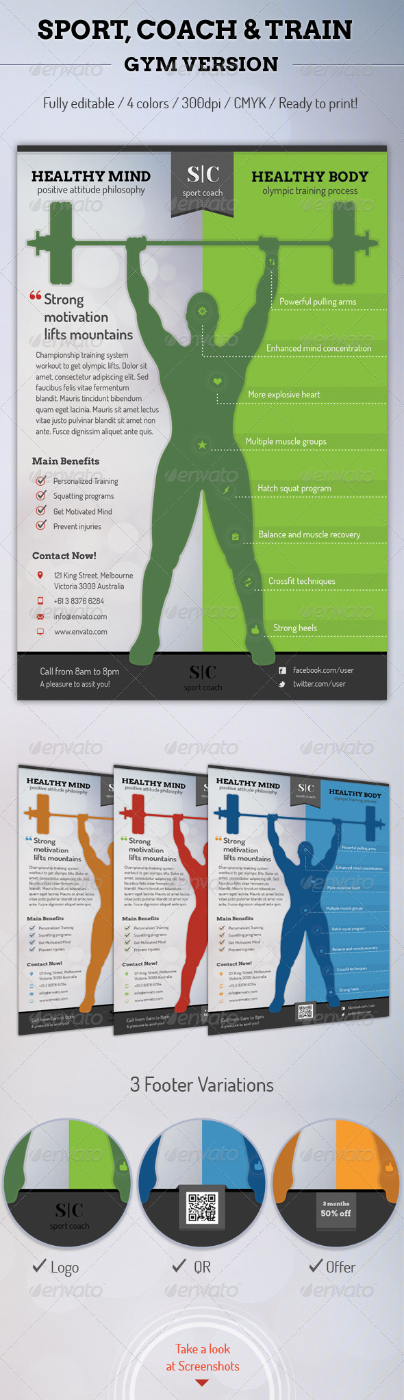 GraphicRiver Sport Coach and Train Flyer Gym Version 6382834