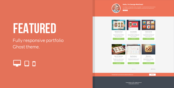 ThemeForest Featured Responsive Portfolio Ghost Theme 6348262