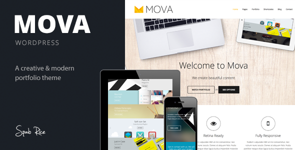 ThemeForest Mova Wordpress Theme for creative minds 6368287