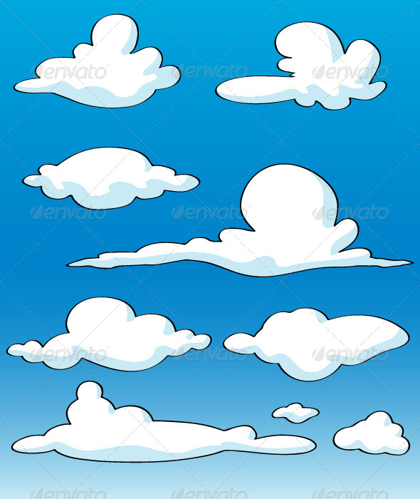 GraphicRiver Cartoon Clouds 6382963