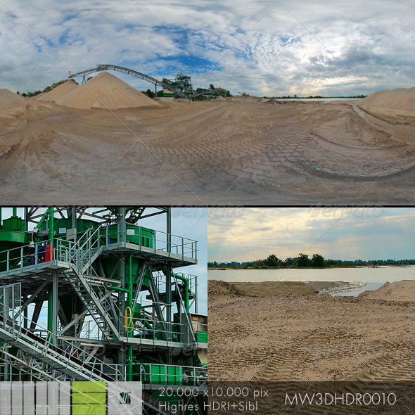 3DOcean MW3DHDR0010 Gravel Sand Plant in Germany 6383031