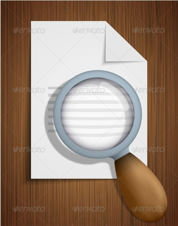 GraphicRiver Vector Search Icon on Wooden Background 6383127