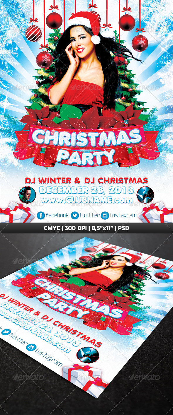 GraphicRiver Christmas Party Flyer Template 6345740