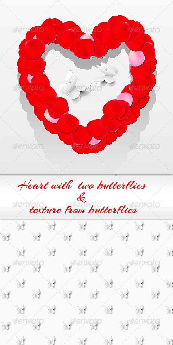 GraphicRiver Romantic Heart From Petals 6383175