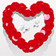 Romantic Heart From Petals - GraphicRiver Item for Sale