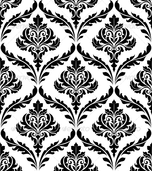 GraphicRiver Seamless Damask Patterns 6383201