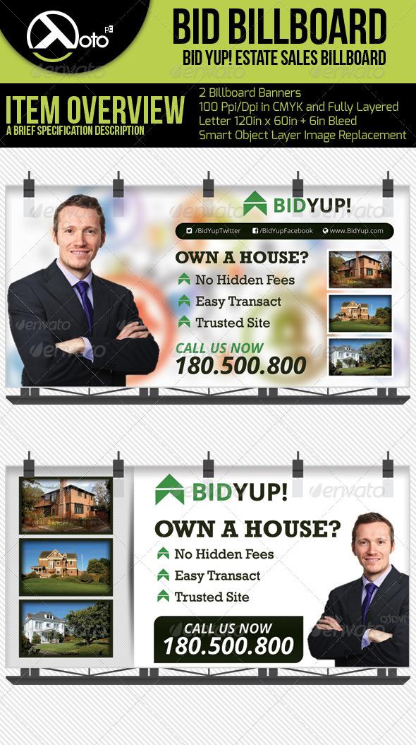GraphicRiver Bid Yup Estate Sale Billboard 6383210