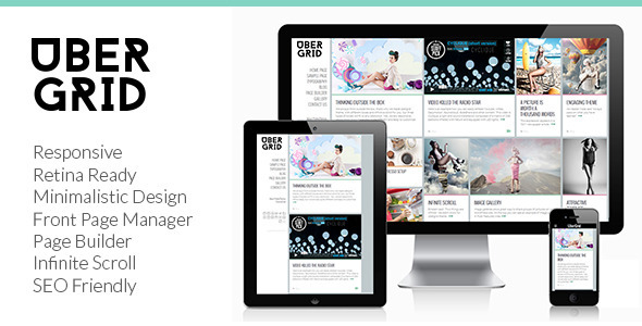 Ubergrid Responsive Grid WordPress Theme