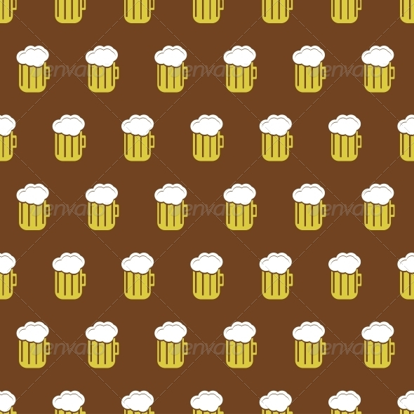 Vector Seamless Beer Background