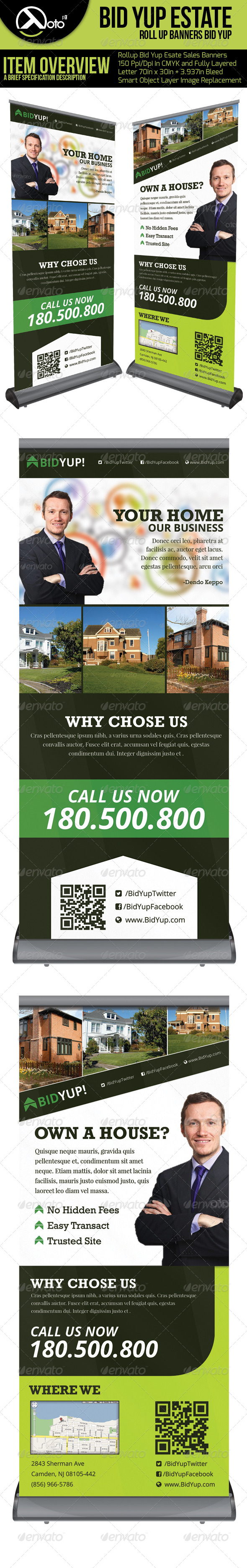 GraphicRiver Bid Yup Estate Sale Roll Up Banners 6383361