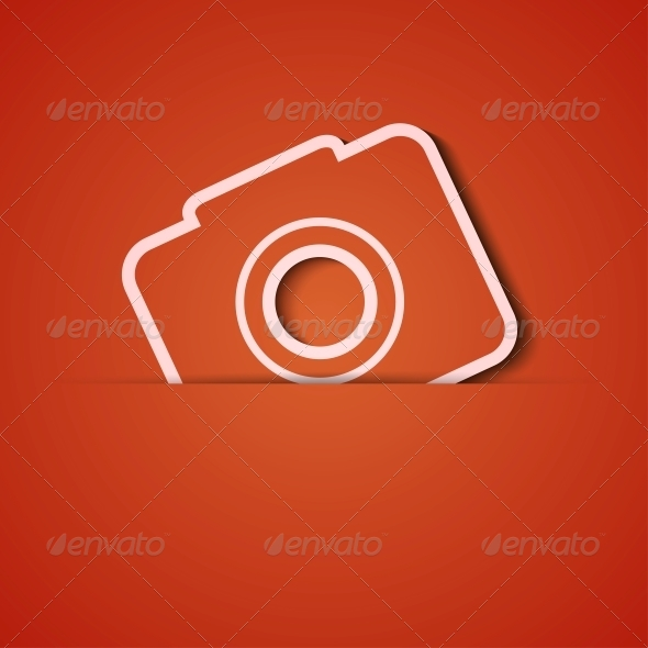 GraphicRiver Orange Camera Background 6383369