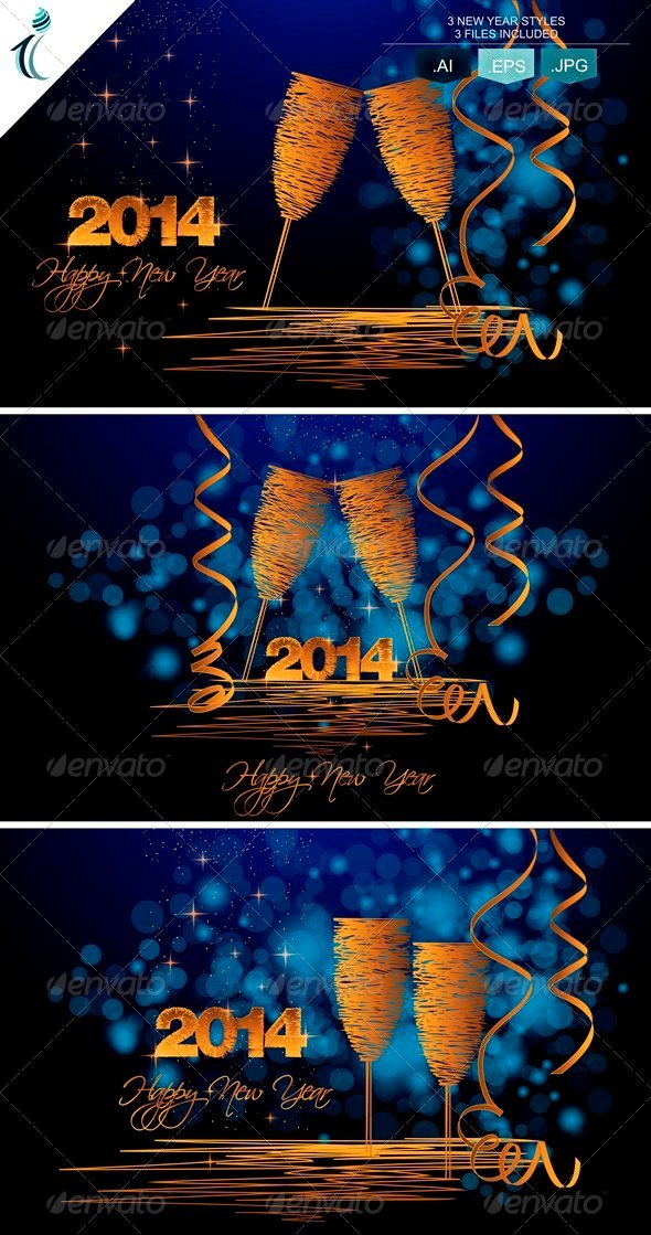 GraphicRiver New Year Background 6383523