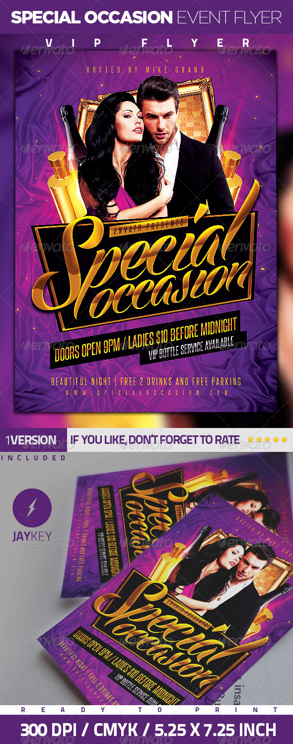 GraphicRiver Special Occasion Event Flyer 6383539