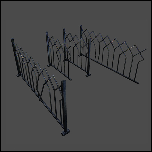 Iron Fence - 3DOcean Item for Sale