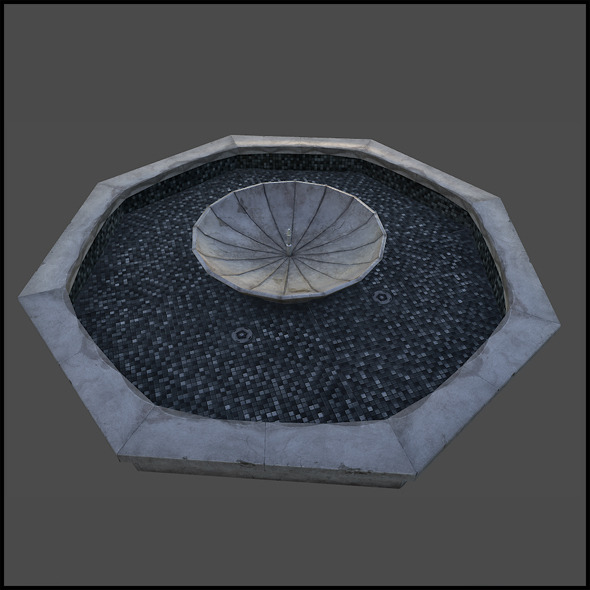 3DOcean Fountain Well 6383806