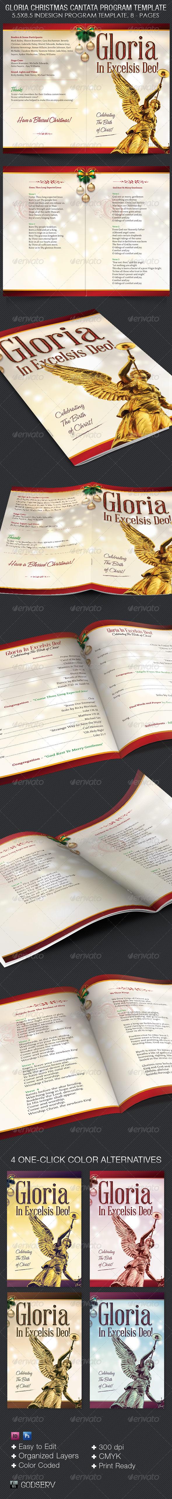 GraphicRiver Gloria Christmas Cantata Program Template 6383858