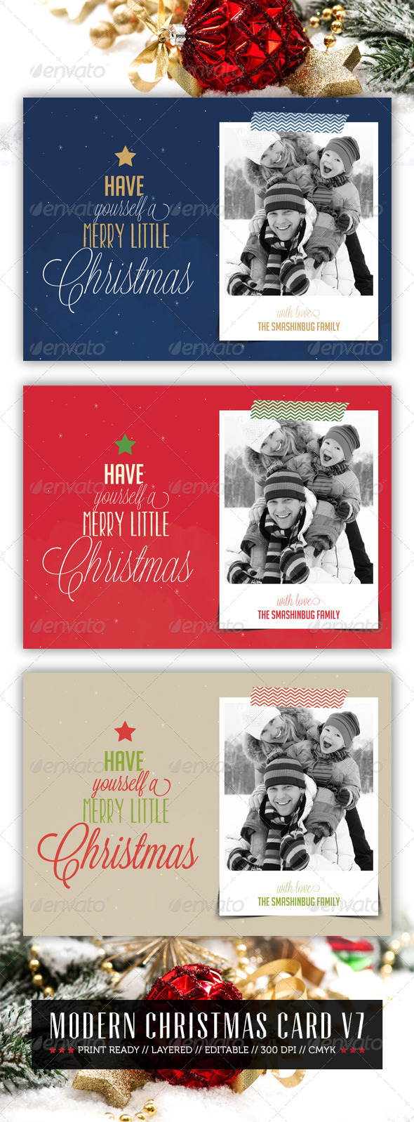 GraphicRiver Modern Christmas Card V7 6383907