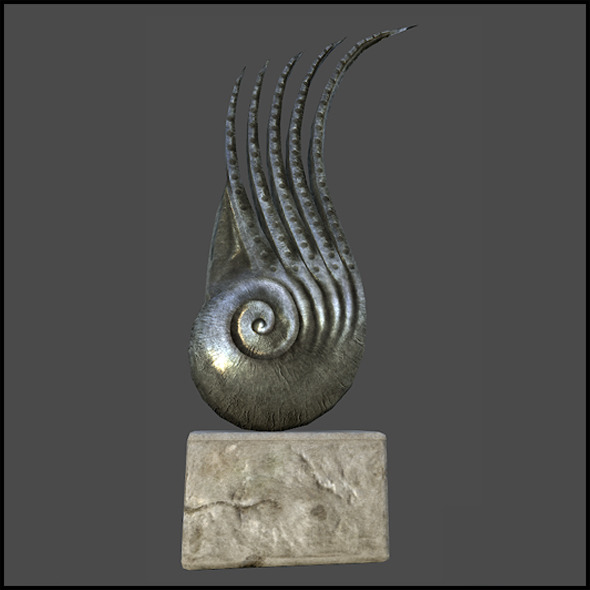 3DOcean Metal Nautilus Sculpture 6383917
