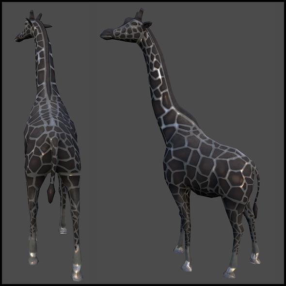 3DOcean Giraffe Sculpture 6383933
