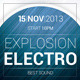 Explosion Electro Flyer - GraphicRiver Item for Sale
