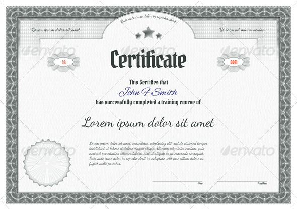 GraphicRiver Detailed Guilloche Certificate 6337759