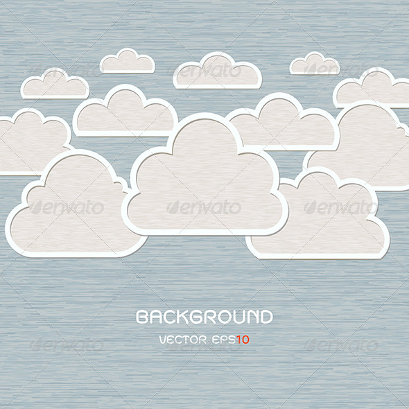 GraphicRiver Abstract Cloud on Blue Background 6384080