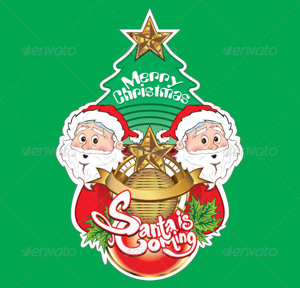 GraphicRiver Merry Christmas Santa is Coming 6373223