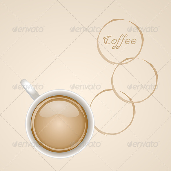 GraphicRiver Cup of Coffee with Stain 6384097