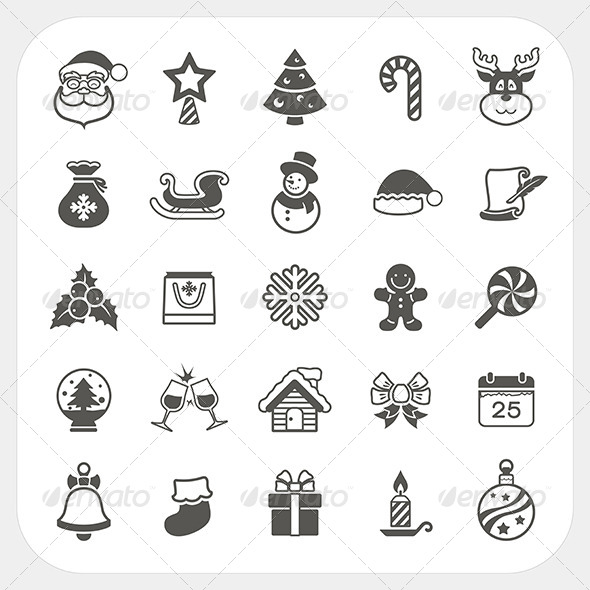 GraphicRiver Christmas and Winter Icons Set 6384138