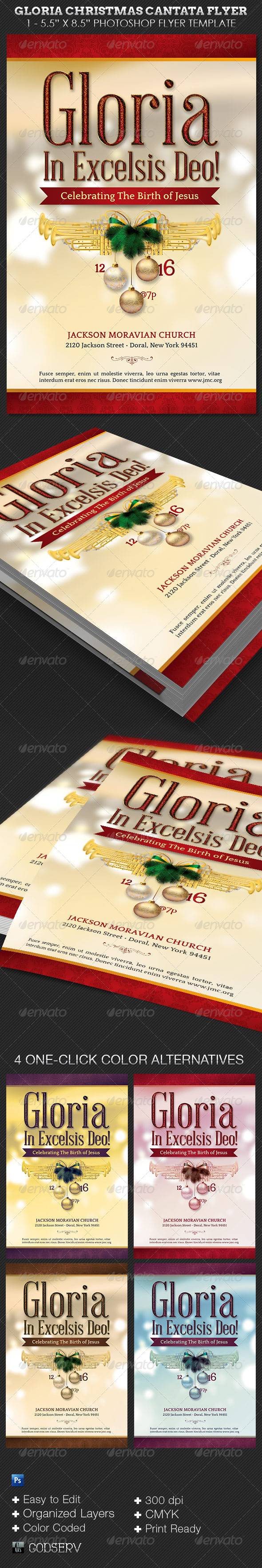 GraphicRiver Gloria Christmas Cantata Flyer Template 6384139