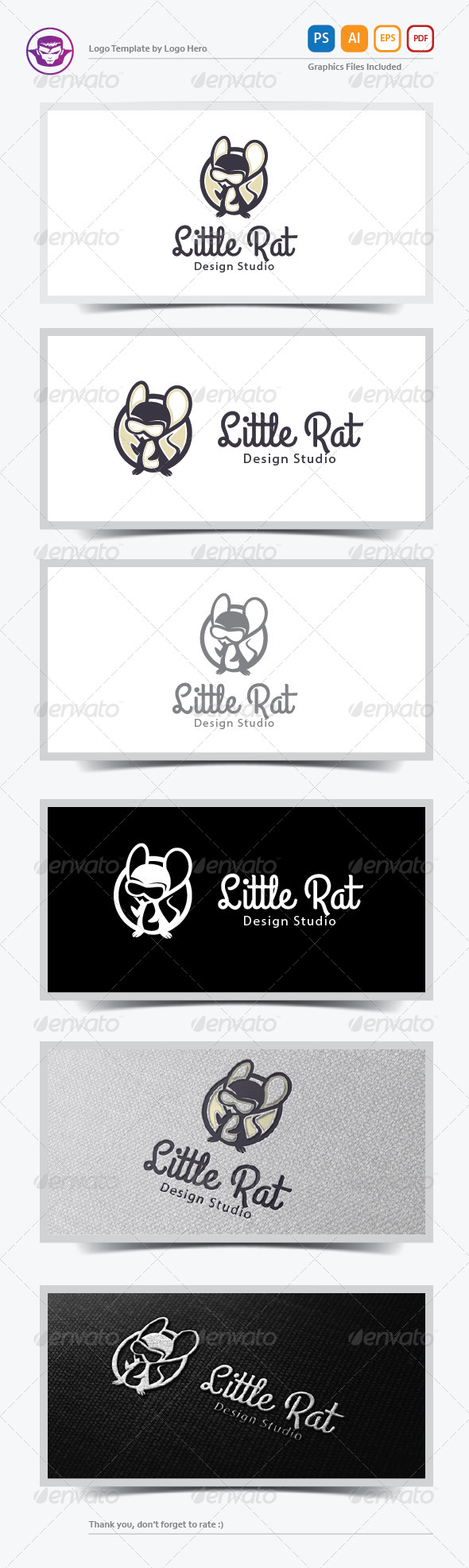 GraphicRiver Little Rat Logo Template 6384212