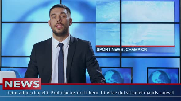 Download News Presenter Speaking About Sport News nulled download