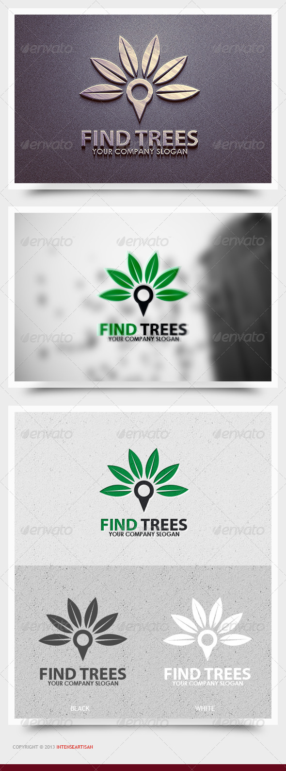 Find Trees Logo Template - Nature Logo Templates