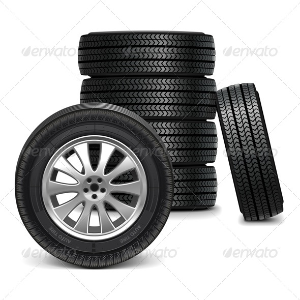 GraphicRiver Vector Car Wheels 6384332