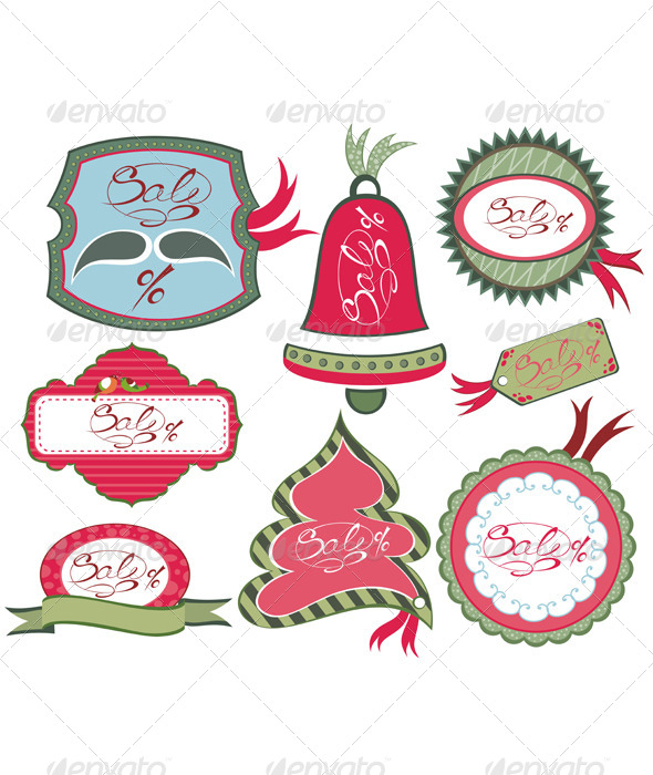 GraphicRiver Christmas Labels 6384704